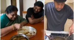 Chiranjeevi turned chef and prepared Fish Curry to his Mother