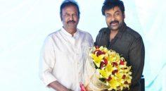 Mohan Babu meet Chiranjeevi at Acharya sets