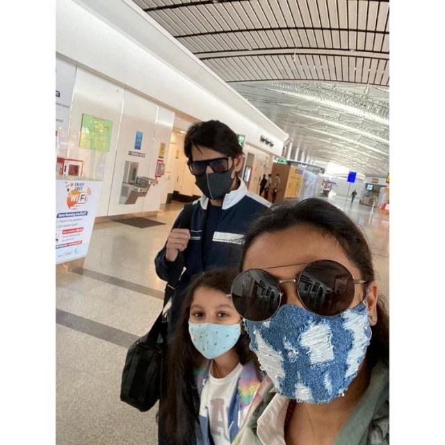 Mahesh went to Dubai with family